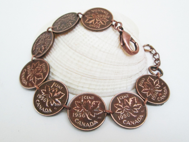 Collectible Canadian Penny Jewelry