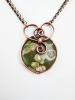 Forest Jasper Copper Heart Necklace