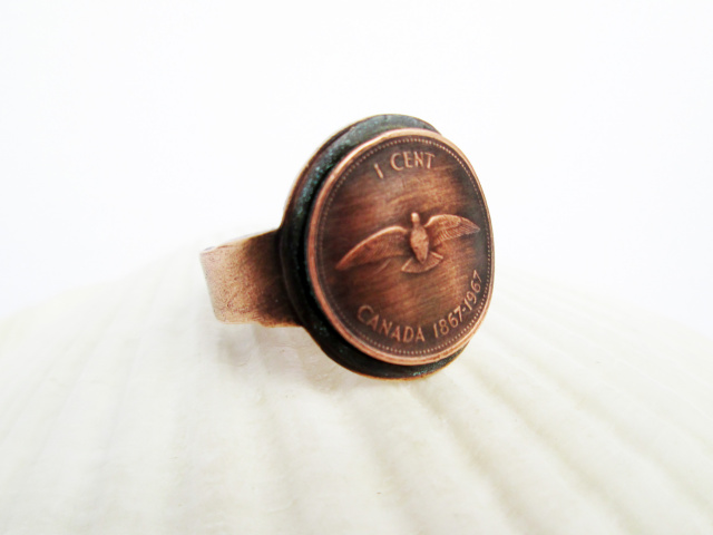 Centennial Penny Adjustable Ring