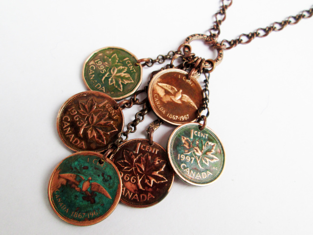 Canadian Penny Family Necklace