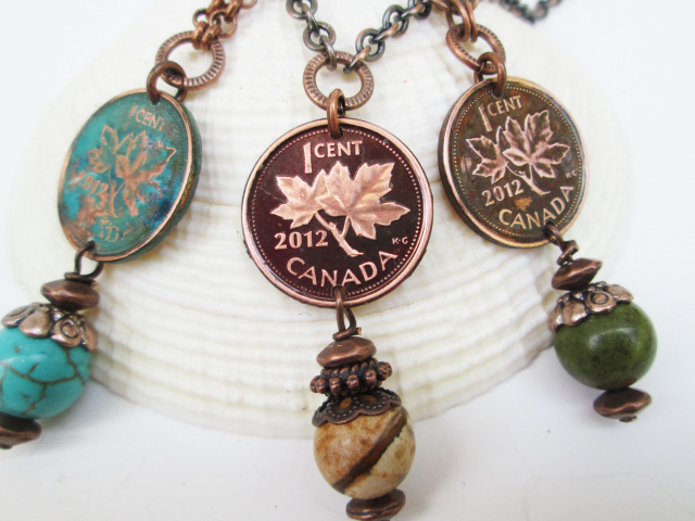 Single Dressed Canadian Penny Necklace