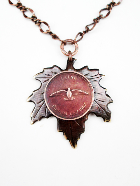 Centennial Penny Maple Leaf Necklace