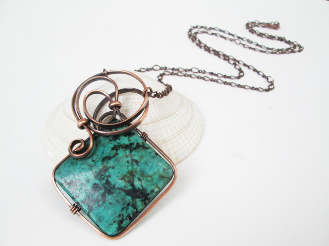 Reconstituted Turquoise Necklace