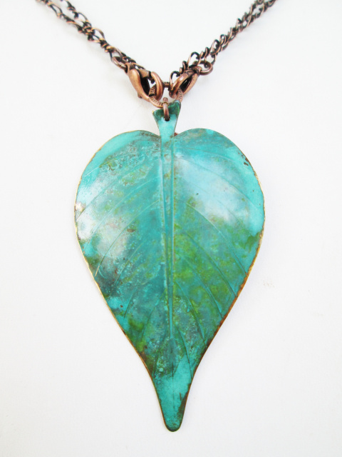 Double Sided Lg. Leaf Necklace (multiple options)