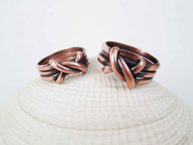 Celtic Copper Knot Ring