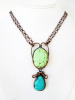 Turquoise Double Stone Necklace