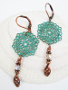 Filigree Earrings with Bead (2 colours)
