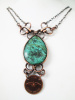 Turquoise Centennial Penny Necklace