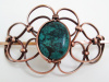 Genuine Turquoise Copper Hair Piece, with Stick