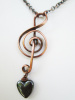 Treble Clef Necklace, Copper Chain, Small and Large