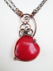 Red Velvet Heart Necklace