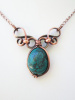 Small Copper Genuine Turquoise Necklace