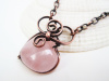 Rose Quartz Copper Heart Necklace